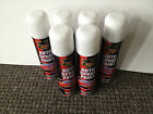 SPRAY PAINT x6 AUTO AEROSOL INTERIOR EXTERIOR GLOSS PRIMER MATT WHITE SILVER