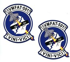 VMFAT-501 WARLORDS Decal Set USMC MARINE CORPS F-35 LIGHTNING With Patch Image