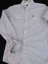 Authentic Fred Perry Mens Long Sleeve Button Front Shirt Size Extra Small XS