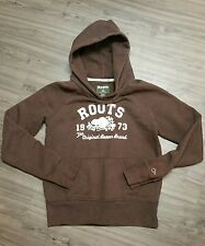 Roots Brown Women's  Graphic Hoodie SZ M Original Beaver Brand
