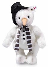 Steiff Monty Snowman Ted White Mohair Jointed Limited Edition 30cm 021718