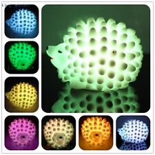 Hedgehog-Shaped Night Light Colorful LED Desk Bed Lamp Home Party Decoration GTW