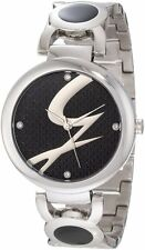 Gattinoni Women's W0197LSSBLK  Astra Stainless Steel Black Logo Dial Watch