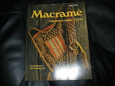 MACRAME CREATIVE KNOT TYING TECHNIQUES and PROJECTS~Vintage Pattern Book~80 pgs