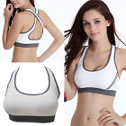 Women Padded Bra Racerback Top Athletic Vest Gym Fitness Sports Yoga Stretch L