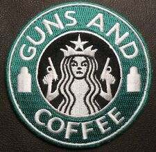 STARBUCKS GUNS & COFFEE USA ARMY MORALE BADGE VELCRO® BRAND FASTENER PATCH