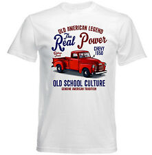 VINTAGE AMERICAN CHEVY 1950 PICK-UP TRUCK - NEW COTTON T-SHIRT