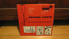 "RIVERSIDE 2507 GEORGE LEWIS RARE 1954 ORIG JAZZ 10"" LP-"