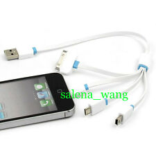 4 In 1 Multi USB Data Sync Charger Charging Cable Cord For Cell Phone Power Bank