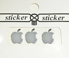 3 PCS Silver Apple Metal Logo Sticker Decal for Apple iPhone 6 6 plus 5 5S 5C 4s