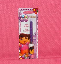 Dora the Explorer Musical Birthday Candle,DecoPac, Purple, Wax Party Topper