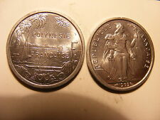 French Polynesia 2 Francs, 1965, Choice BU, One Year Type Coin