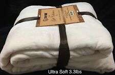 Ultra Soft Fluffy Plush Queen Size White Cozy Blanket Bedspread 3.3lbs  Get Gift