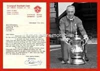 LIVERPOOL FC LEGEND BILL SHANKLY 1970 SIGNED (PRINTED) & WITH 1974 FA CUP PRINT