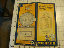 """Vintage Original map of France: MICHELIN #72, ANGOULEME - LIMOGES, 42.5X19.5"""""""