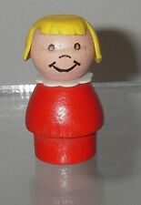 Fisher Price Play Family #663/192/121 GIRL Red 1965-72 Wood body/head