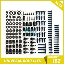 Blue 162Pcs Fairings Bolt Kit Fastener Nuts Screws for APRILIA RS125 RS250