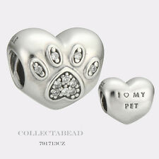 Authentic Pandora Sterling Silver I Love My Pet Bead 791713CZ