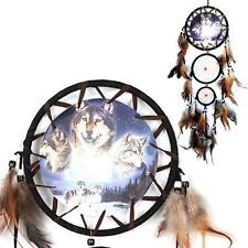 Chic Dream Catcher with Feathers Wall Hanging Decor Ornament-Wolf Dreamcatcher