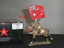 KING AND COUNTRY AL07A AUSTRALIAN LIGHT HORSE RED ENSIGN FLAGBEARER MOUNTED