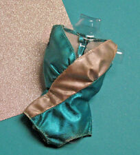 Talking Stacey #1125 Metallic Blue + Silver Swimsuit, 1970-71 VTG Barbie Clothes