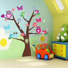 Owls Birds Tree Butterfly Wall Sticker Removable PVC Decals Kid Nursery Room USA