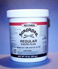NEW! 16 OZ. RECTORSEAL NOKORODE REGULAR PASTE FLUX SOLDERING