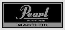 vintage Pearl ' Masters ' type  vinyl shell badges -  TWO ONLY (self adhesive).