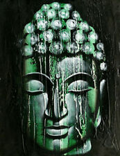 PAINTING BUDDHA budha MEDITATION OIL PAINTING PAINTED 30 X 40 CM