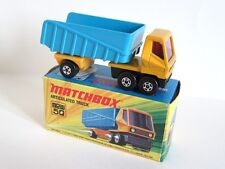 Matchbox Superfast 50b Articulated Dump Truck - 5 SPOKE WHEELS ON CAB - Boxed
