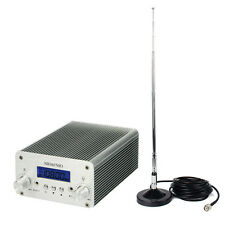 5W/15W FM Transmitter Radio Stereo Station Wireless Broadcast 87~108MHz+Tracking