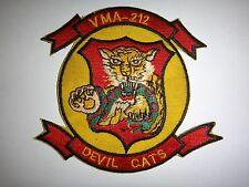 USMC Patch Marines Attack Squadron VMA-212 DEVIL CATS In Korea War (1950-1953)