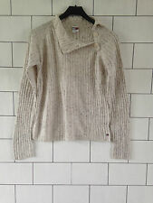 WOMEN'S TOMMY HILFIGER URBAN VINTAGE RETRO BEIGE KNIT JUMPER SIZE UK LARGE 12/14