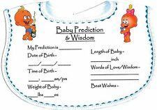 Baby Shower Games/ Gift for MUM  Prediction Cards (10 Players) FIRST CLASS POST