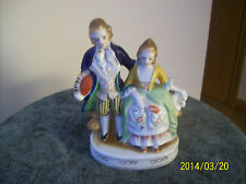 Courting Couple Vintage Porcelain Hand Painted Figurine Occupied Japan #413