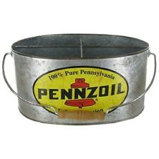 Pennzoil Galvanized Bucket.Fast Free Shipping