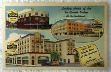 LINEN POSTCARD LEADING HOTELS OF THE RIO GRANDE VALLEY TEXAS #z73