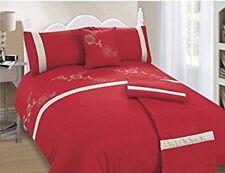 BALI ROSSO, 5 Pezzi Bed in a Bag Set Copripiumino, Doppia Dimensione, Gratis P&P