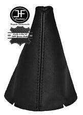 BLACK LEATHER FITS FORD FIESTA MK7 2008-2013 GEAR STICK GAITER COVER NEW