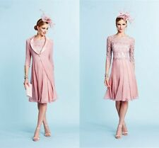 Chiffon Free Jacket Knee Length Wedding Guest Outfits Mother Of the Bride Dress
