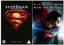 SUPERMAN Complete Collection DVD BoxSet Movies Part 1+2+3+4+Returns+Man of Steel