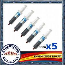 5x PASTA TERMICA SILICONA 30GR GRAMOS CALIDAD PARA PROCESADOR ORDENADOR XBOX PS3