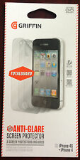 Griffin TotalGuard Anti-Glare Screen Protector for Apple iPhone 4&4S(GB03684)3PK