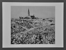 Robert Capa Photo Heliogravure 40x30 Poland 1948 Rubble Warsaw Jewish Ghetto B&W