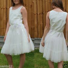 Next Signature Girls Ivory Corsage Bridesmaid Wedding Christening Dress 12 Year