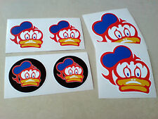 BARRY SHEENE DUCK Motorcycle Helmet Fairing set of 6 stickers 50 to 80mm