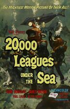 "20,000 Leagues Under The Sea movie poster - James Mason, Jules Verne : 11"" x 17"""