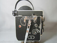 BOLEX H8 REFLEX 8MM MOVIE CAMERA BODY SWISS C-MOUNT LENS TURRET CAPS BEAUTY!