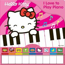 NO TAX-FREE SHIPPING: HELLO KITTY I LOVE TO PLAY PIANO W/WORKING KEYBOARD