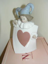 NAO BY LLADRO ACE OF HEARTS FROM PACK OF CARDS SET BOXED FIGURE #1280 LOVELY